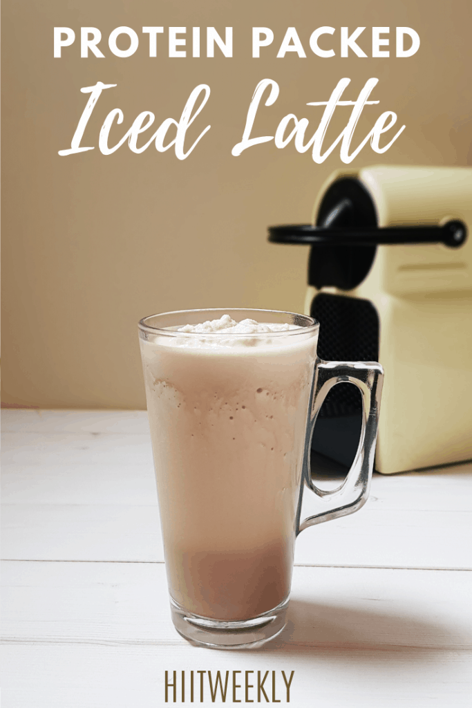 A deliciously coffee based protein smoothie, the iced latte. Now you can enjoy your favorite chilled coffee sin free. Get the recipe here.