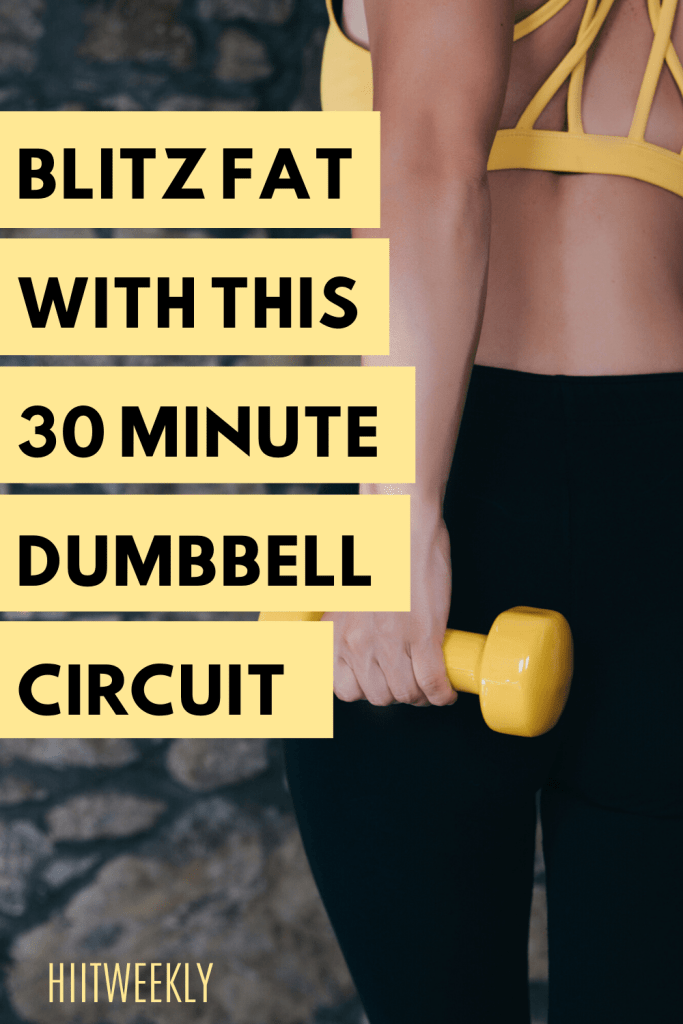 Blitz fat with this 30 minute at home dumbbell workout plan. Click to get the workout and start exercising.