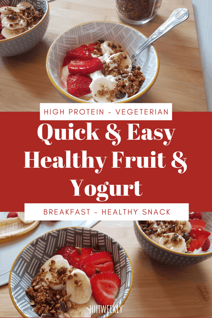 A quick and easy fruit and yogurt breakfast idea thats packed full of protein and nutrients for a healthy start to the day.