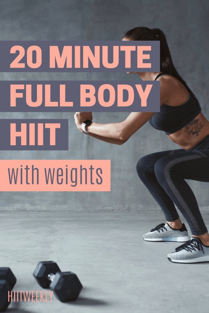 Kick start your metabolism and get yourself into amazing shape with this quick 20 minute workout with weights. HIIT workout with weights.