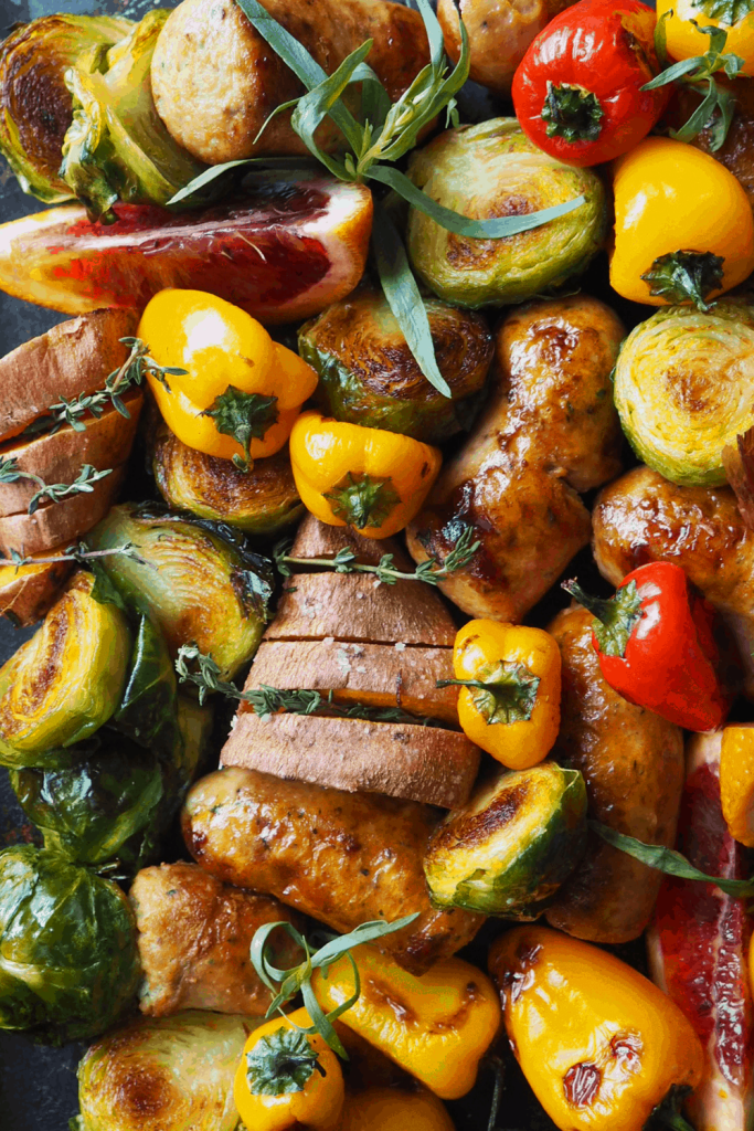 Healthy sheet pan recipes that youa nd your family will enjoy for dinners or packed lunch.