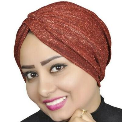 Turban Head Hijab Wrap Cover Cotton Spandex Blend – Red