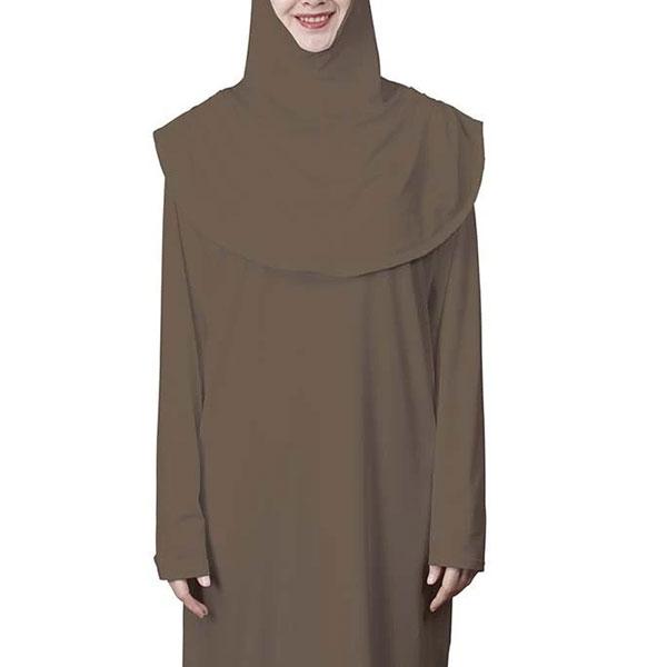 Abaya and Hijab Set - Khaki