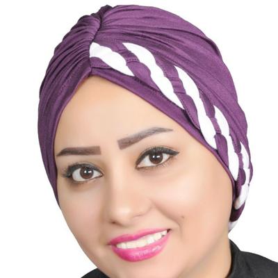 Turban, Full Turban, Headband, Hat, Stretch Fashion, Head Wrap Hair Loss Hat – Purple