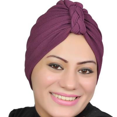 Women Turban Muslim Turban Head Hijab Turban Wrap Cover Cotton Spandex Blend – Purple