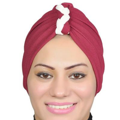 Women Turban Muslim Turban Head Hijab Turban Wrap Cover Cotton Spandex Blend – Red