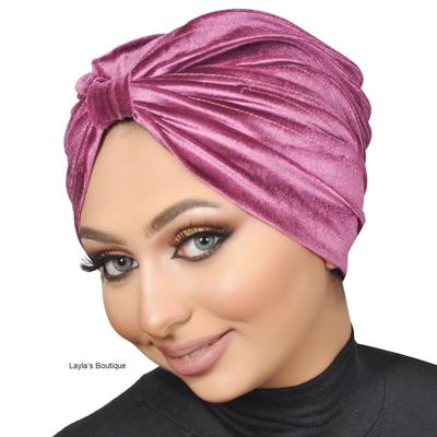 Turban, hat Head wrap, Fashion Turban Cap -Turban Headband Velvet