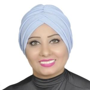 Turban Head Hijab Turban Wrap Cover Cotton Spandex Blend – Sky-blue.