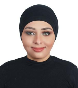 Two Pieces Cotton Al Amira Hijab - Black