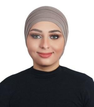 Two Pieces Cotton Al Amira Hijab - Dark grey