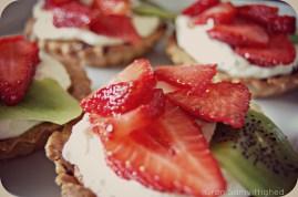Mega awesome himmelsk jordbærtærte ♡