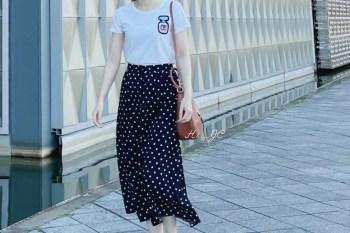 [穿搭] 假日只想輕鬆穿~搭配風格多變的Tory Burch包+Michaela Buerger香水瓶上衣+日本點點長裙+Veja鞋