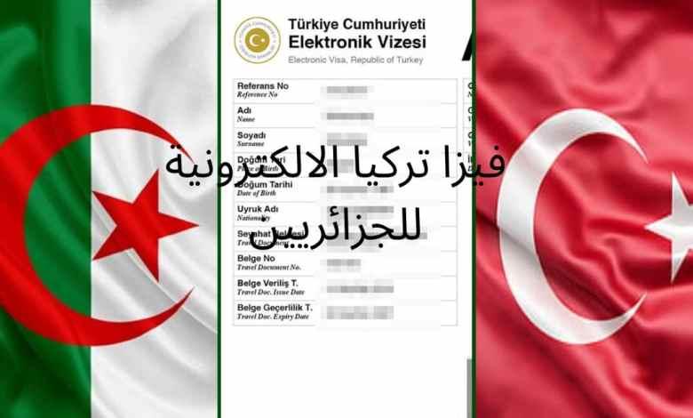 تأشيرة تركيا الالكترونية