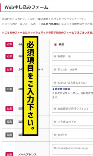 So-net光新規申込