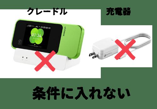 WiMAXのクレードルと充電器
