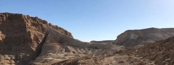 Climbing the roamn ramp to masada at sunrise