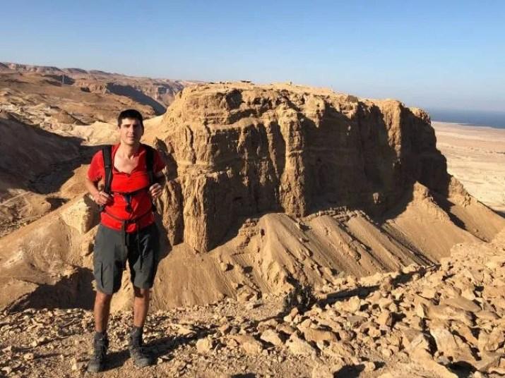 View of Masada from Elazar Mountain