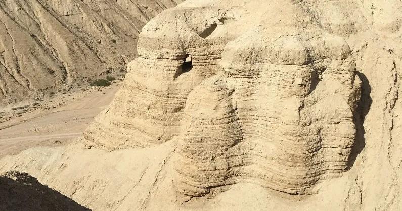 Qumeran cave where the dead sea scrolls where found