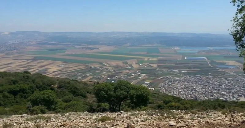 Beit Nerofa valeey and mount carmel - view from mount Atzmon
