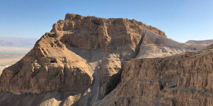 """Masada Northern Palace. View from the """"Runner"""" Path"""