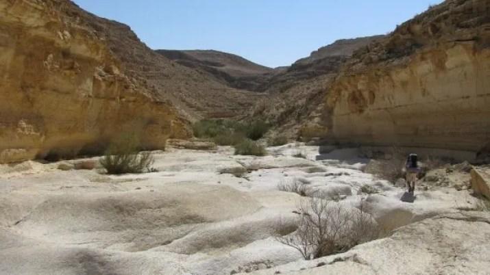 Hiking wadi mishmar in the jedean desert