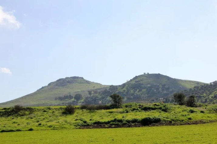 The Twin summits of the Horns of Hattin