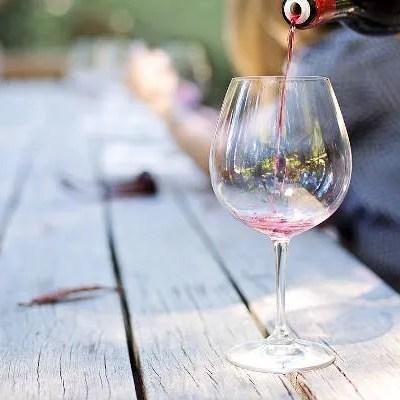 Desert wine tasting