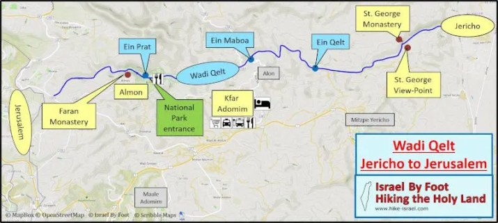 Wadi Qelt 2 days hike from Jericho to Jerusalem
