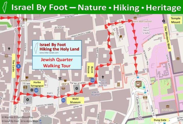 Jerusalem Jewish Quarter Walking Tour Map