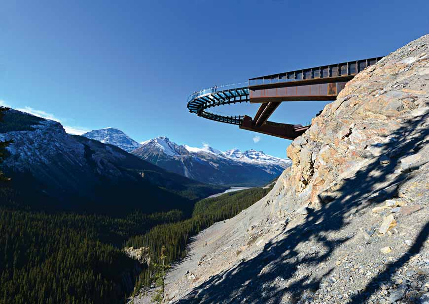 The Columbia Icefield Skywalk in Jasper National Park