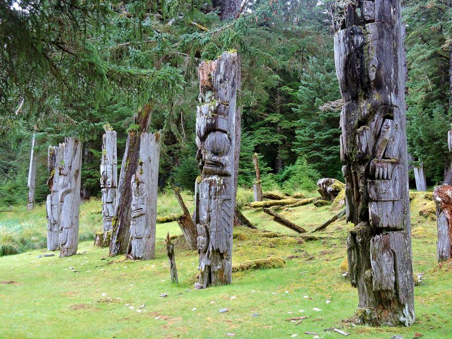 The decaying totem poles at Gwaii Haanas are testament of our rich Indigenous heritage. Photo credit: Marlis Butcher