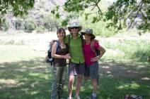 Bettina, Maria, Kelly before the hike. (JP)