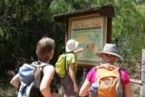 At the River Trail trailhead. (JP)