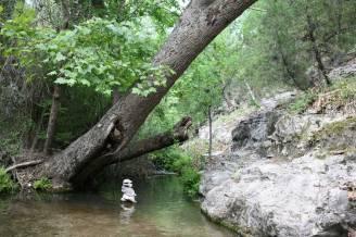 Gorman Springs cairn. (JP)