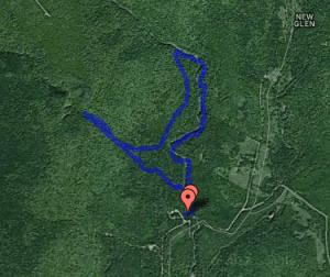 Usiage Bann Falls track.