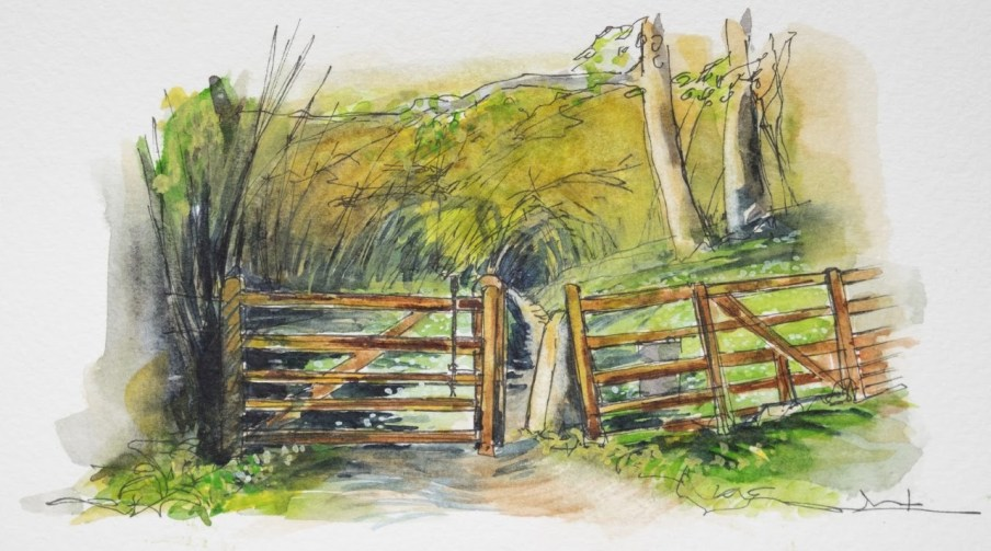 Gateway into woodland
