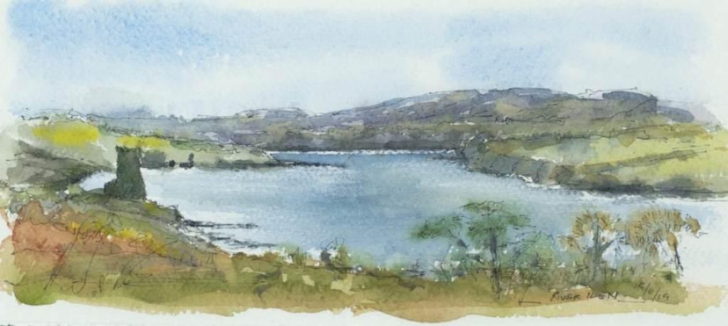 River Ilen, Watercolour sketch
