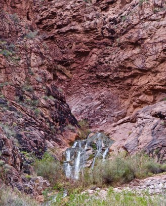 Seasonal springs and falls are flowing