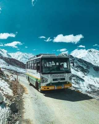Kaza-winters-Spiti-Valley-bus-hrtc-service