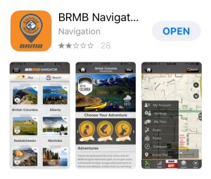 BRMB Navigation app, hiking app