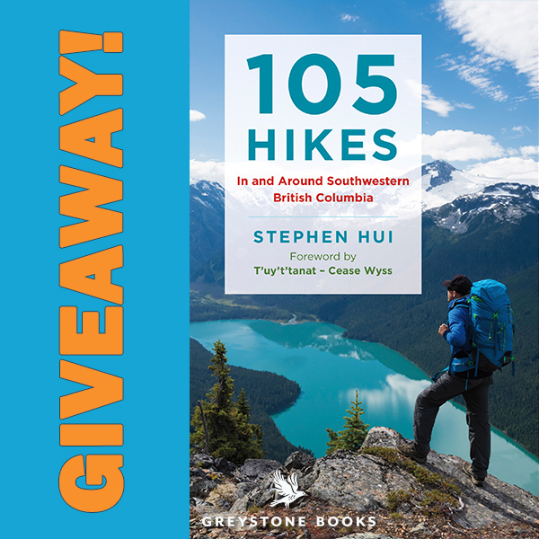 105 hikes in and around southwestern british columbia, giveaway, hikes near vancouver
