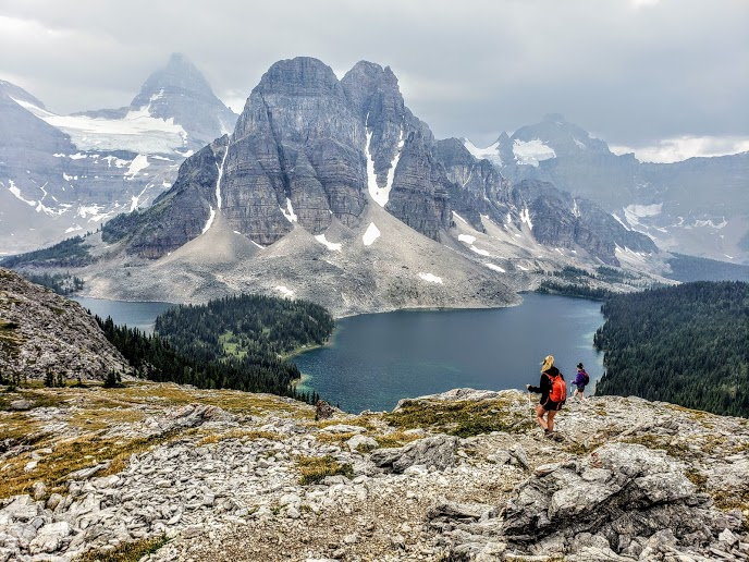 mount assiniboine, sunshine to mount shark, nub peak, nublet, sunburst peak