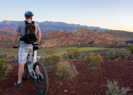 biking at the Sky Mountain Overlook in Southern Utah
