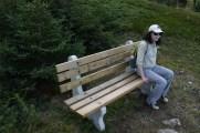 The bench at Houlihan's River.