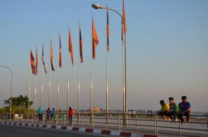 Abendstimmung am Mekongufer