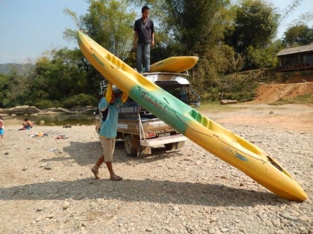 Kayaktour auf dem Nam Xong