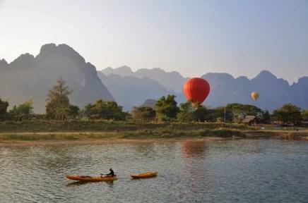 Grandiose Kulisse in Vang Vieng