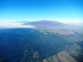 Letzter Blick auf den Mauna Kea, der vom Festland aus fast immer wolkenverhangen war...