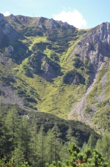 uphill climb toward Sulzenschneid