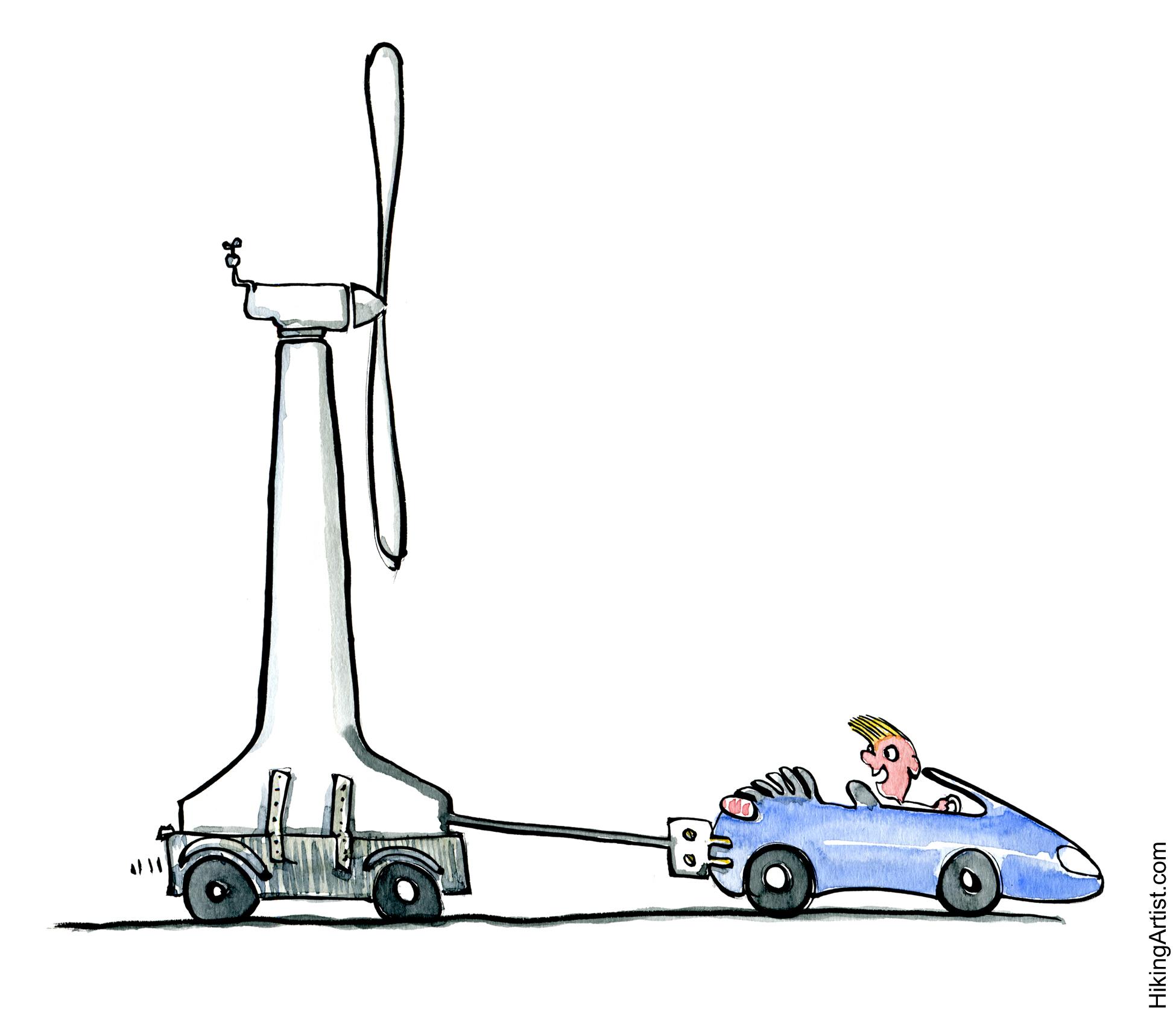 Car Windmill Eletrical